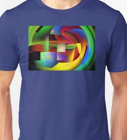 Computer Generated Abstract Fractal Flame Unisex T-Shirt