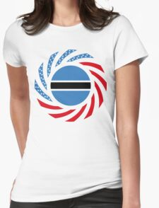 Botswana American Multinational Patriot Flag Series Womens Fitted T-Shirt