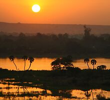 Sunset Over the Niger River by morealtitude