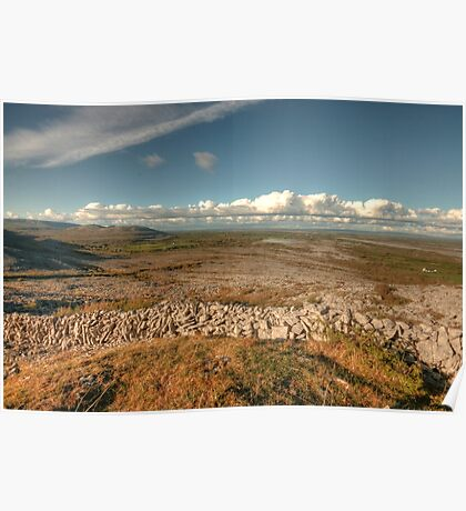 Beautiful Burren scene Poster