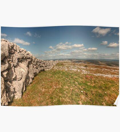 Burren Stone Wall Poster
