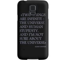 Albert Einstein Quote Samsung Galaxy Case/Skin
