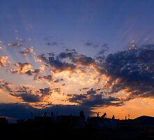 cityscape sunset by savas