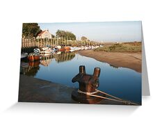 Blakeney bollard North Norfolk Greeting Card