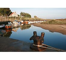Blakeney bollard North Norfolk Photographic Print
