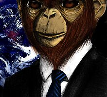 Super Awesome Lawyer Monkey by sarah-jade atkinson