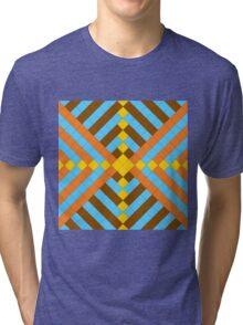 Retro mosaic Tri-blend T-Shirt