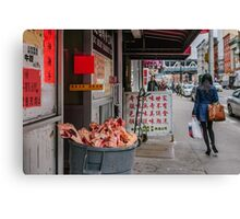 Meat Market in New York Canvas Print
