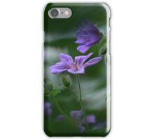 Through to the meadow cranesbill iPhone Case/Skin