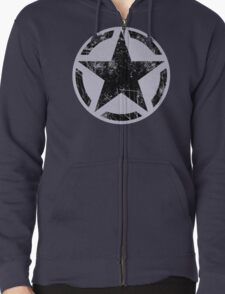 Black Vintage American Star T-Shirt