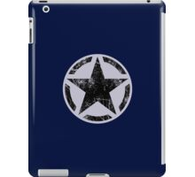 Black Vintage American Star iPad Case/Skin