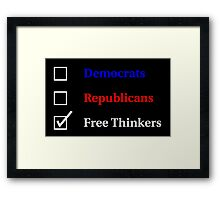 Election Ballot - Free Thinkers for Dark T's Framed Print