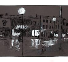 Bowmanville Before Dawn (in conte) by Gary Chapple