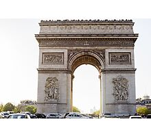 Arc De Triomphe Sunset Photographic Print