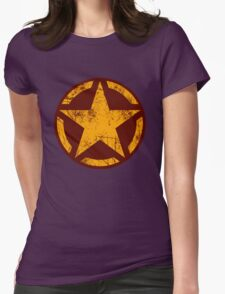 Golden Yellow Vintage American Star Womens Fitted T-Shirt