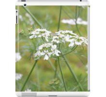 coriander flower iPad Case/Skin