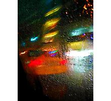 taxi in the rain Photographic Print