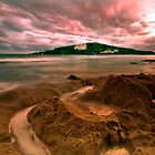 Burgh Island Stormy Sandcastle by Andy Fox