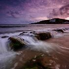 Stormy Burgh Island by Andy Fox