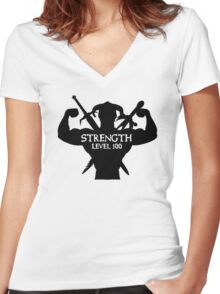 Level 100 Women's Fitted V-Neck T-Shirt