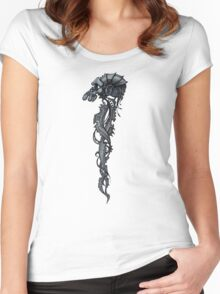 Techno Monkey Totem  Women's Fitted Scoop T-Shirt