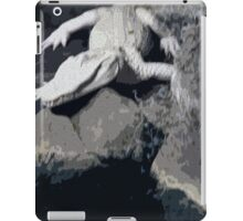 White Albino gator on the prowl iPad Case/Skin