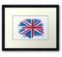 Watercolor Flag of the United Kingdom of Great Britain and Northern Ireland Framed Print