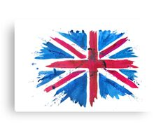 Watercolor Flag of the United Kingdom of Great Britain and Northern Ireland Canvas Print