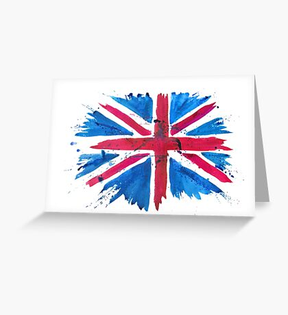 Watercolor Flag of the United Kingdom of Great Britain and Northern Ireland Greeting Card