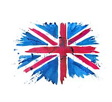 Watercolor Flag of the United Kingdom of Great Britain and Northern Ireland Photographic Print