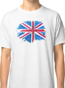 Watercolor Flag of the United Kingdom of Great Britain and Northern Ireland Classic T-Shirt
