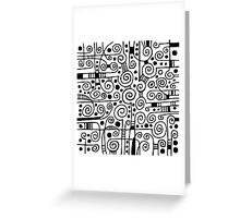 Abstract 040512 - Black on White Greeting Card