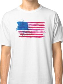 Watercolor Flag of the USA Classic T-Shirt