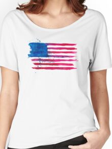 Watercolor Flag of the USA Women's Relaxed Fit T-Shirt