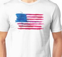 Watercolor Flag of the USA Unisex T-Shirt