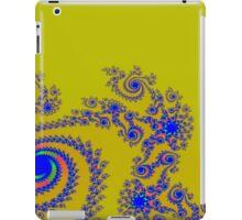 Blue Swirls on Gold iPad Case/Skin