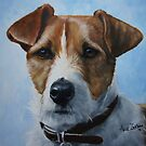 Jack Russell Terrier and Sky by Anne Zoutsos