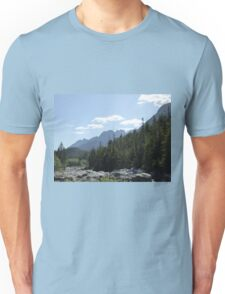 Trees and mountains landscape Unisex T-Shirt