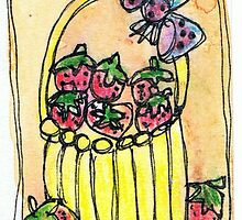 strawberries by Kim  Magee