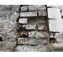 Bricks on the wall... Photographic Print