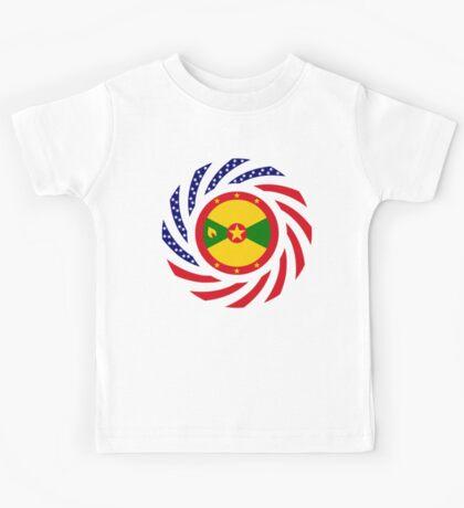 Grenadian American Multinational Patriot Flag Series Kids Tee