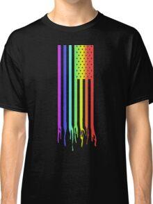 American Flag- Gay Pride Classic T-Shirt