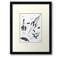 retro cosmo (white t-shirt) Framed Print