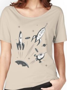 retro cosmo (white t-shirt) Women's Relaxed Fit T-Shirt