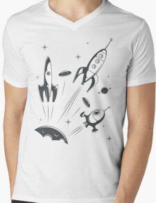 retro cosmo (white t-shirt) Mens V-Neck T-Shirt