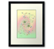 Rainbow Butterflies Framed Print