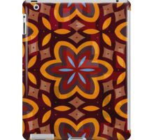 Bold Brown Floral Pattern  iPad Case/Skin