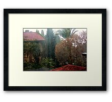 Out came the rain... Framed Print