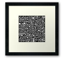 Abstract 040512 - White on Black Framed Print
