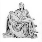 Mary and Jesus Pieta by Michelangelo by Michael Johnston
